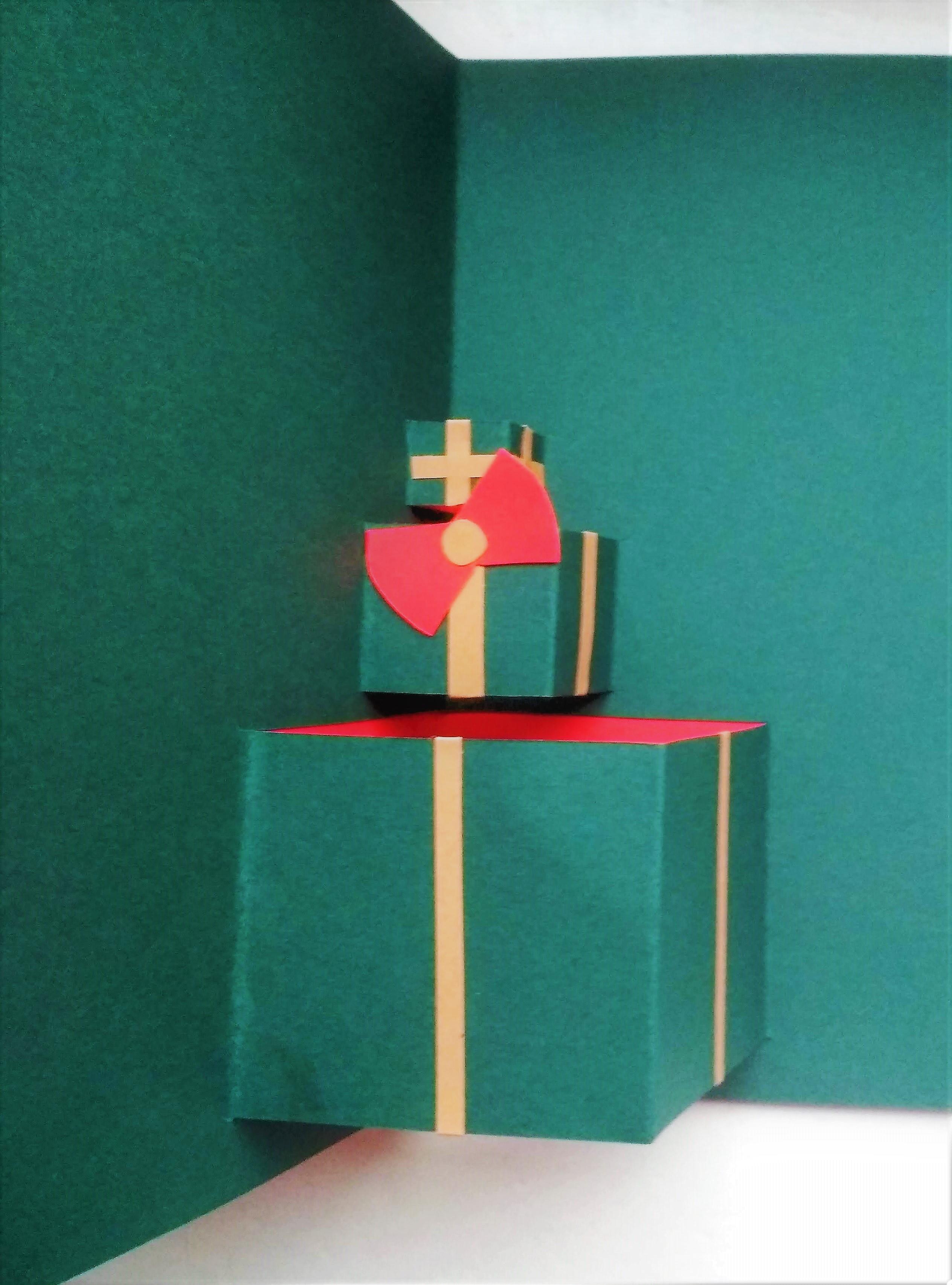 Kartka stos prezentów